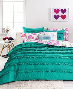 Seventeen Bedding Eva Eyelet Teal 3 Piece Comforter Sets - Teen Bedding - Bed & Bath - Macy's $70