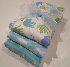 Premium 6 Ply Burp Cloth Set of 3 Baby Boy by MyRaggyObsession, $12.99