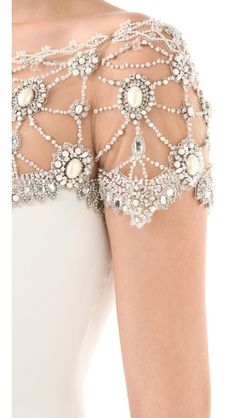 Gorgeous Detailing... Great idea for lehnga top, anarkali, and saree blouse