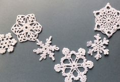 Check out the Handmade Christmas Tree Ornaments in Christmas Decorations & Ornaments, Holiday Decor from Eljuks for Easy Christmas Ornaments, Handmade Christmas Tree, Simple Christmas, Christmas Crafts, Christmas Decorations, Crochet Christmas, Tree Decorations, Christmas Ideas, Crochet Snowflakes