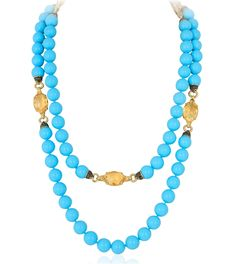 Turquoise and Citrine Strand Necklace - Andreoli - Product Search - JCK Marketplace