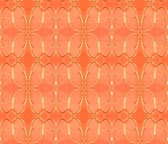 #Music In You Flock by SPKCreative #Fabric and #Wallpaper http://www.spoonflower.com/collections/78941 #butterflies #butterfly #decor #colorful #modern #orange #coral #mango #gold