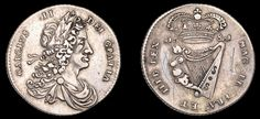 1681 Charles II Regal coinage, Proof Halfpenny, in silver, small letters, edge grained Small Letters, Metals, Personalized Items, Paper, Silver, Lower Case Letters, Money