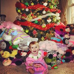 Bonnie Sides' 1-year-old asked for pillow pets in lieu of gifts for her 1st bday to take to Levine Children's Hospital where she was last year at this time. She had 2 open heart surgeries and spent 3 months in the hospital after being born. More than 50 pillow pets from friends and family were collected for kids currently in need.