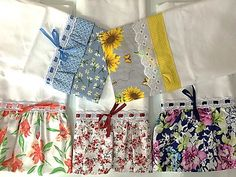 Kit 5 Panos Prato Estampas Flores