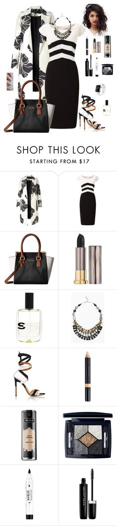 """""""b + w charcoal"""" by runsonblackcoffee on Polyvore featuring Jacques Vert, Calvin Klein, Urban Decay, NAKAMOL, Gianvito Rossi, Nudestix, Kat Von D, Christian Dior, Estée Lauder and Marc Jacobs"""