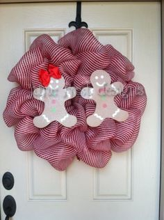 Gingerbread Christmas Mesh Wreath Ready to by JuneFirstDesigns, $62.00