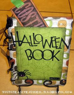 Halloween book with pictures of kids costumes each year. This is a great idea. I wish my mom had done this for me and my brother. We had some good costumes!