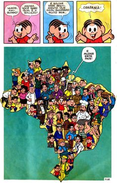 Situação do Brasil por Turma da Mônica