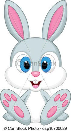 Rabbits Illustrations and Clip Art. Rabbits royalty free illustrations and drawings available to search from thousands of stock vector EPS clipart graphic designers. Baby Cartoon, Cartoon Pics, Cute Cartoon, Bunny Crafts, Easter Crafts, Rabbit Pictures, Bunny Images, Free Illustrations, Cute Drawings