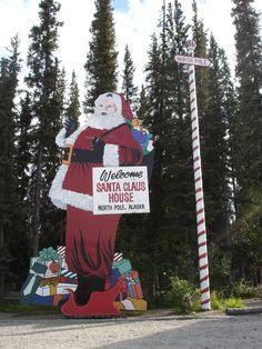 North Pole, Alaska near Fairbanks Christmas Wonderland, Winter Wonderland, Santa Claus House, Alaska Adventures, Alaska Cruise, Alaska Trip, Roadside Attractions, North Pole, Travel Around The World