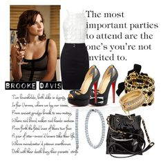 Brooke Davis aka B. Davis by babyphatglamgirl on Polyvore featuring Chanel, Juicy Couture, Tiffany & Co., Romeo + Juliet Couture, one tree hill, clothes over bros., oth, chic, brooke davis and sophisticated