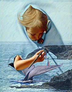 image by MOMO. Find more awesome freetoedit images on PicsArt. Surrealism Painting, 3d Painting, Figure Painting, Pics Art, Art Pictures, Photos, Little Girl Photography, 3d Street Art, Big Canvas