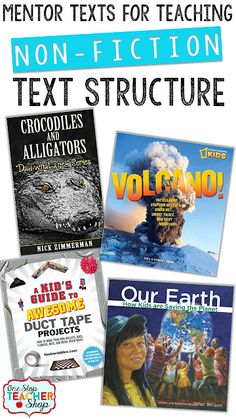 Mentor Texts for teaching Non-fiction text structure. Check out these Tips for Teaching Text Structure with Non-Fiction! Lots of great ideas, plus a FREEBIE! Reading Lessons, Reading Strategies, Reading Skills, Reading Comprehension, Math Lessons, Comprehension Strategies, Teaching Reading, Guided Reading, Reading Intervention