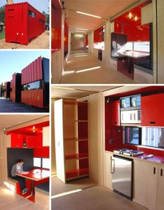 While I'm not usually a fan of container homes, nor do I think I would live in one, there are still some interesting and innovative ideas here.