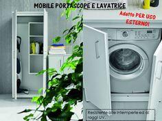 mobile porta lavatrice asciugatrice e ripiani | MOBILI LAVANDERIA ...