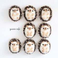 Cute Needle felted wool animals hedgehogs(Via @yucococafe)                                                                                                                                                      More