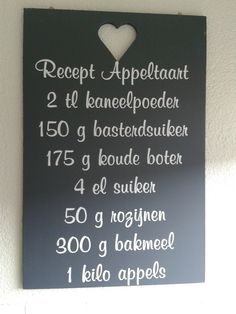 appeltaart recept