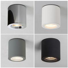 Astro Deckenleuchte Kos | Oberfläche lackiert weiß, grau oder schwarz | mit LED Leuchtmittel bestückbar | Rund