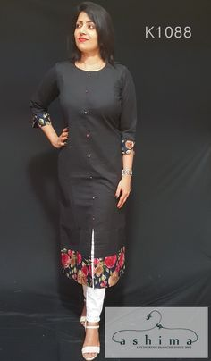 Daily wear kurtis from Ashimafashionstore . View our collection of kurtis online Simple Kurta Designs, New Kurti Designs, Fancy Blouse Designs, Kurta Designs Women, Kurti Designs Party Wear, Salwar Designs, Salwar Neck Patterns, Stylish Kurtis Design, Fancy Kurti