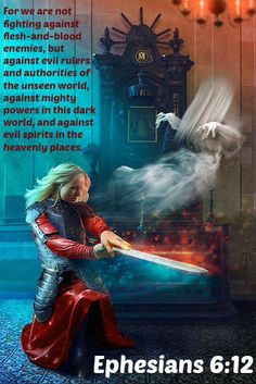 The battle rages on. Never forget: Ephesians For we are not fighting against flesh-and-blood enemies, but against evil rulers and authorities of the unseen world, against mighty powers in this dark world, and against evil spirits in the heavenly places. La Sainte Bible, Ephesians 6, Eph 5, Heavenly Places, Armor Of God, Evil Spirits, Prayer Warrior, Spiritual Warfare, Bible Scriptures