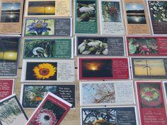 Trauerkarten von mir fotografiert und handgeschrieben