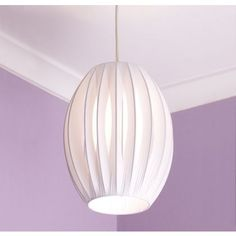 Retro Ribbon Shade - White - 20cm at Homebase -- Be inspired and make your house a home. Buy now.