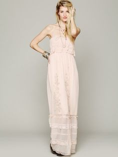 Free People Maddie Embroidered Silk Maxi on shopstyle.com