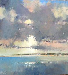 Brian Ryder (British, b. Abstract Landscape Painting, Seascape Paintings, Watercolor Landscape, Landscape Art, Landscape Paintings, Abstract Art, Art Paintings, Indian Paintings, Painting Art