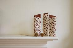 Set of 3 White Pattern Vases by Bjork Haraldsdottir from the shop at velvet-dash.com