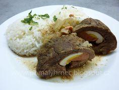 Pomalý hrnec: Španělský ptáček v pomalém hrnci Crockpot, Slow Cooker, Steak, Food And Drink, Eggs, Beef, Cooking, Breakfast, Kitchen