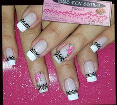 Cute Nail Designs, Cute Nails, Nail Art, Prom, Black Nails, Short Films, Fairy, Classy Nails, Nail Decals