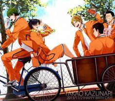 Team Shuutoku (Midorima, Takao, Miyaji, Ootsubo, Kimura)