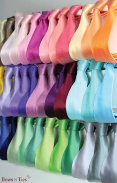 NEW Solid Colored Wedding Neckties for Groom and his Groomsmen - available in 50 seasonal wedding colors.