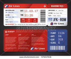 94a2d4d5959 Картинки по запросу Airline ticket design