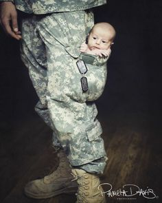 baby in military pocket <3