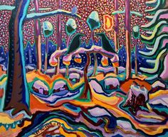 Buy Original Artwork at Artwork Only - Snow shower settled down the forest. by Paavo Stenius
