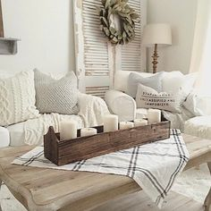 I've been on the hunt for some family room inspiration and I absolutely love this space from @jessicahucker People always note that they couldn't do white with kids but honestly, it's me I don't trust with white! Either way, I love Jessica's style (her kitchen shelves are some of my favorite too!) #swoonworthysaturday  .  .  .  .  #farmhousestyle #farmhousedecor #homeinspiration #decoratingideas #decor