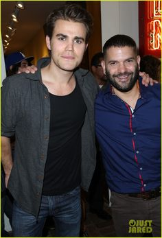 Paul Wesley and Scandal's Guillermo Diaz Buddy Up for Immigrant Heritage Month Gala | paul wesley scandal guillermo diaz immigrant gala 03 - P...