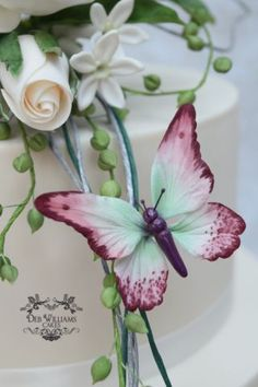 Rose bouquet wedding cake