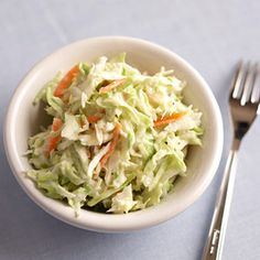 Low-fat yogurt and light sour cream make this coleslaw creamy and rich. It's a low-carb side dish that's ideal for a diabetic meal plan.