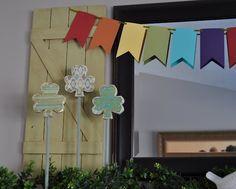love the rainbow! #st Patty's decor