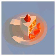 Pretty Art, Cute Art, Food Illustrations, Illustration Art, Aesthetic Art, Art Blog, Art Inspo, Amazing Art, Art Reference