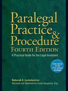The completely revised and updated fourth edition of the most trusted paralegal desk references on the market. Now fully revised and expanded: the bestselling desk reference for paralegals at any leve
