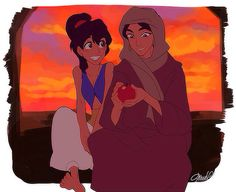 Aladdin and Jasmine Genderbend! This is probably my favorite genderbend of them! Disney Pixar, Disney Animation, Film Disney, Disney And Dreamworks, Disney Cartoons, Disney Characters, Gender Bent Disney, Disney Gender Swap, Disney Gender Bender