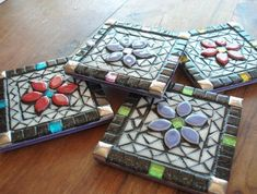 Colouful Mosaic Coasters