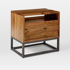 Shop logan nightstand from west elm. Find a wide selection of furniture and decor options that will suit your tastes, including a variety of logan nightstand. Cama Industrial, Industrial Design Furniture, Industrial Bedroom, Rustic Furniture, Modern Furniture, Home Furniture, Bedroom Furniture, Furniture Stores, Outdoor Furniture