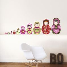 Russian Dolls Vinilos decorativos en AllPosters.es