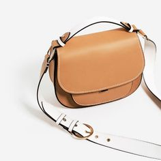 CONTRAST STRAP CROSSBODY BAG-View all-BAGS-WOMAN   ZARA Albania Leather  Saddle 755f81e3b8