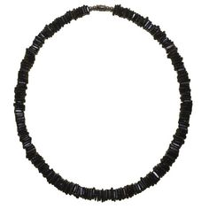 """Native Treasure - 18"""" Dark Chips Puka Shell Necklace >>> Details can be found by clicking on the image."""